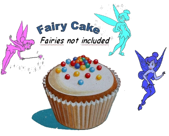 fairy cake w fairies w words