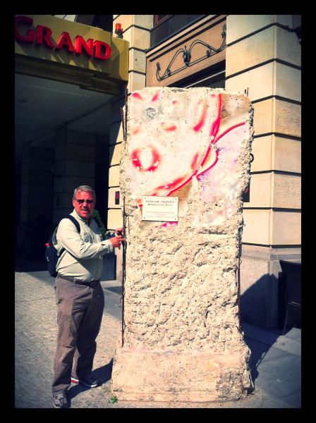 A piece of the berlin wall
