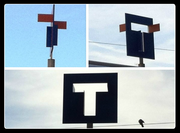 Totems, nice france, tramway