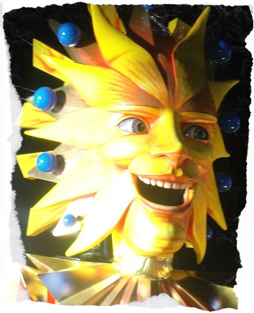nice carnaval yellow face