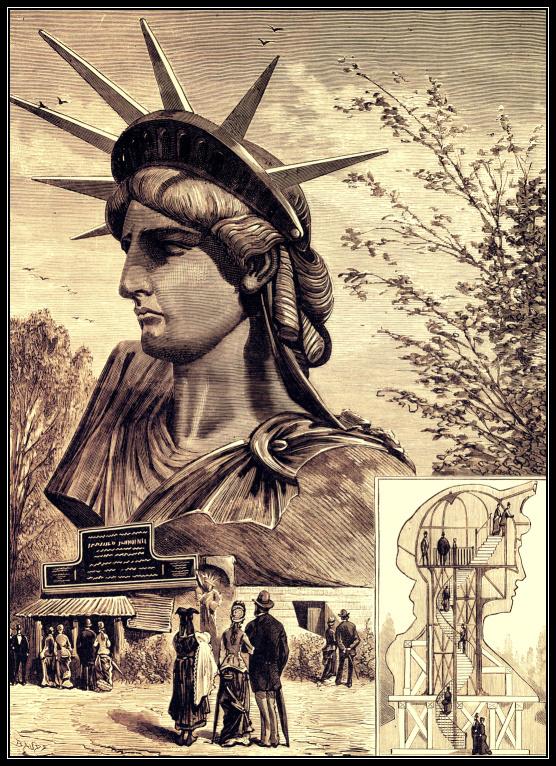 statue of liberty head