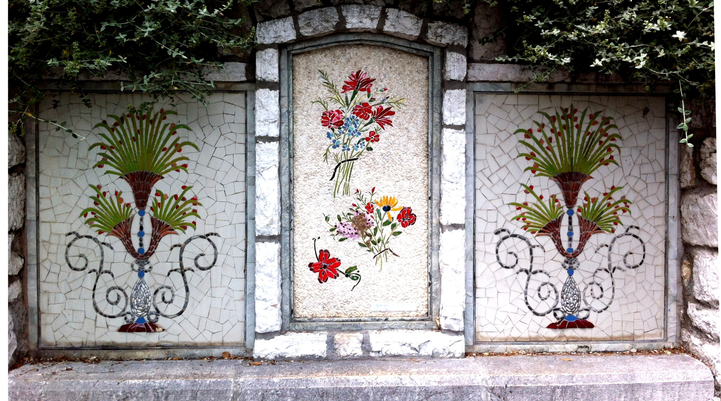 Mosaics on the hill, Nice, France