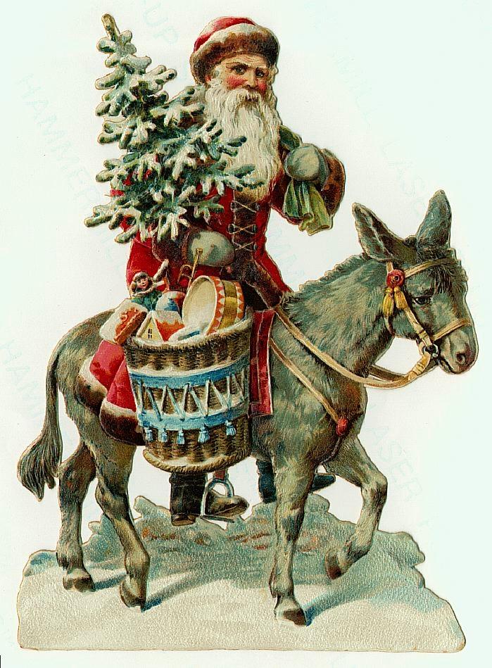 Santa on donkey
