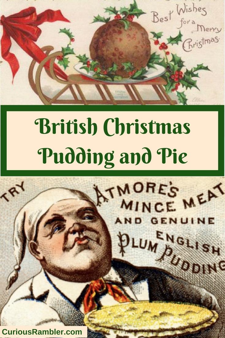 British Christmas Pudding and Pie