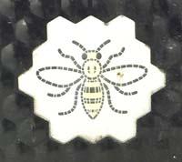 Manchester bee on bin
