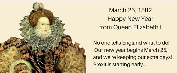 Elizabeth calendar new year 700