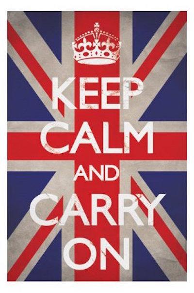 Keep Calm on british flag